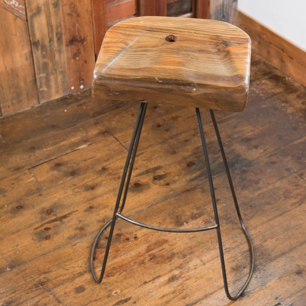 Awesome Handmade Industrial Designed Reclaimed Wood Barstools Lamtechconsult Wood Chair Design Ideas Lamtechconsultcom