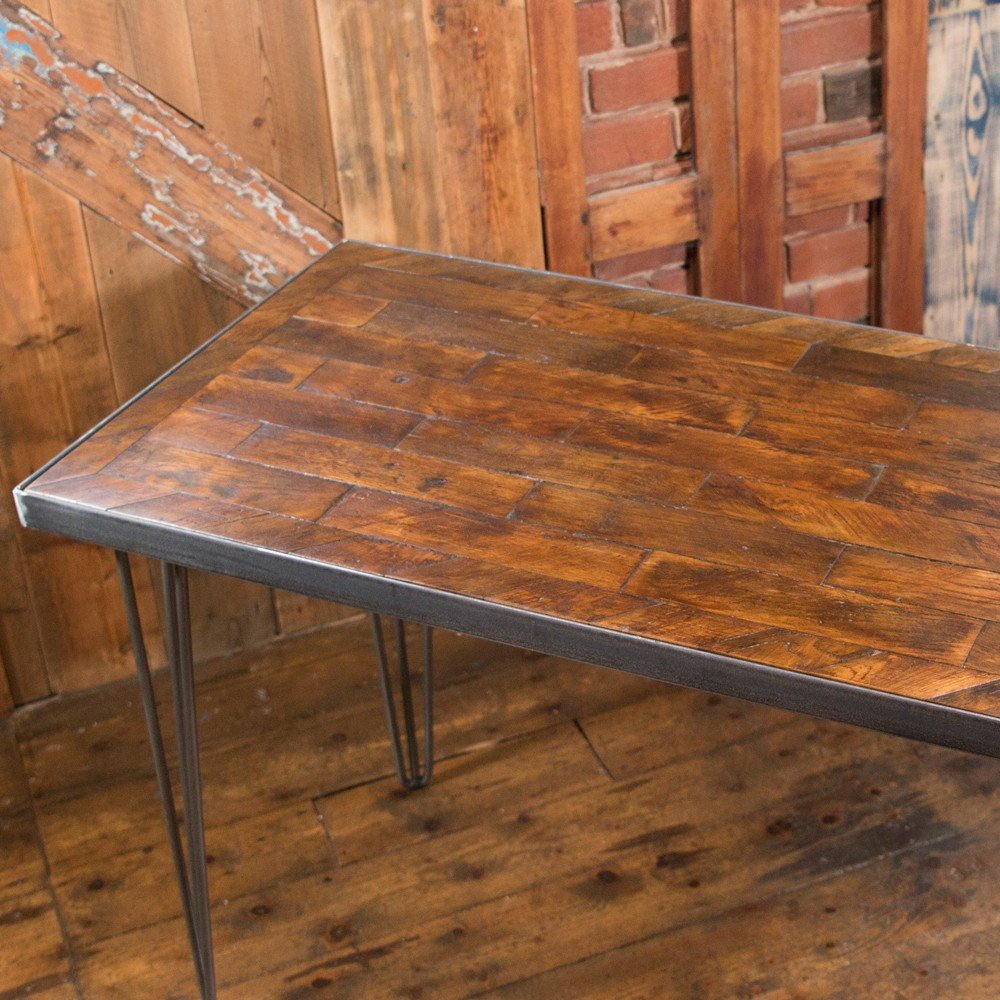 Industrial Design Parquet Flooring Deskworkstation With Hairpin