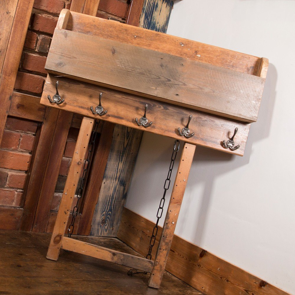 Wall Mounted Coat Rack And Storage Shelf From Reclaimed