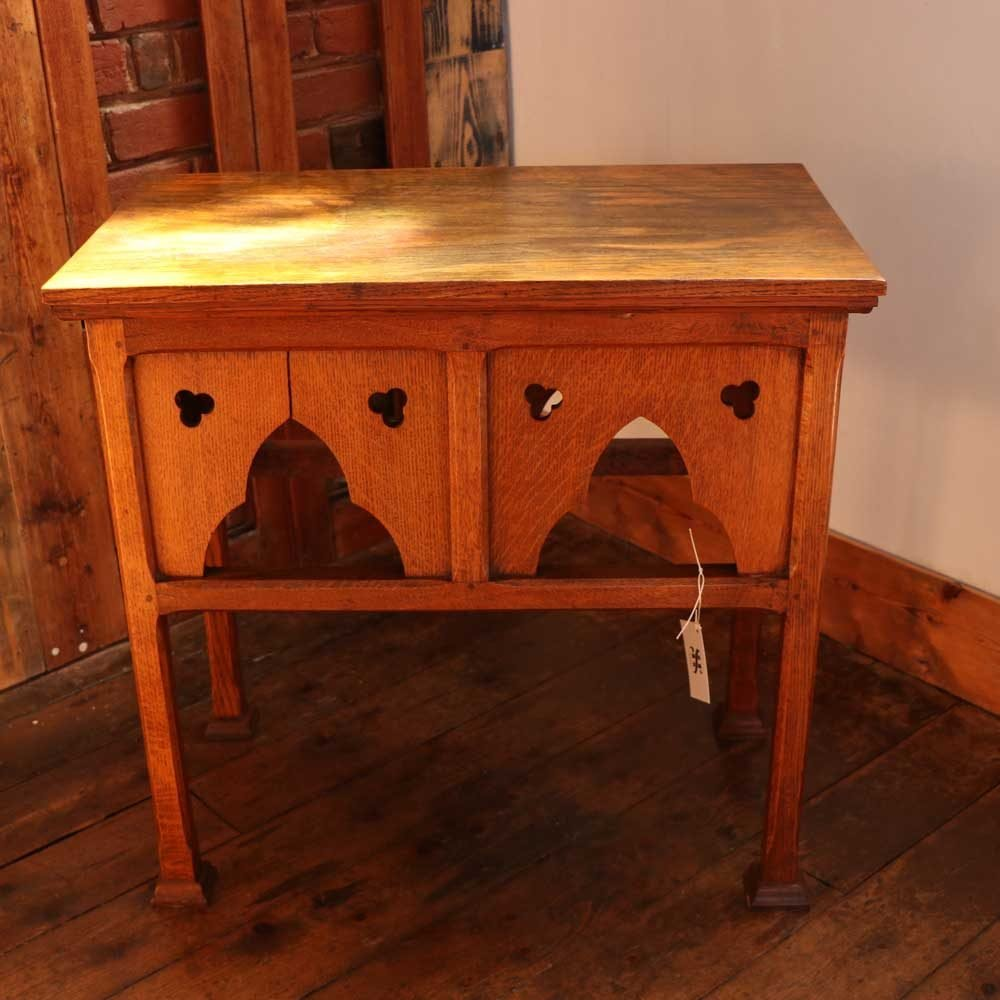 Victorian solid oak alter table