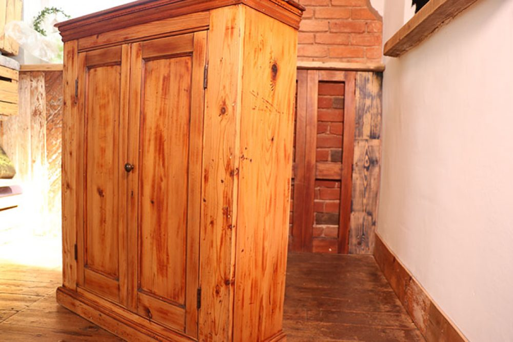 Old Wooden pine cupboard