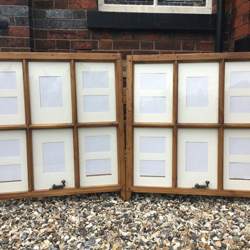 Reclaimed sash window picture frame
