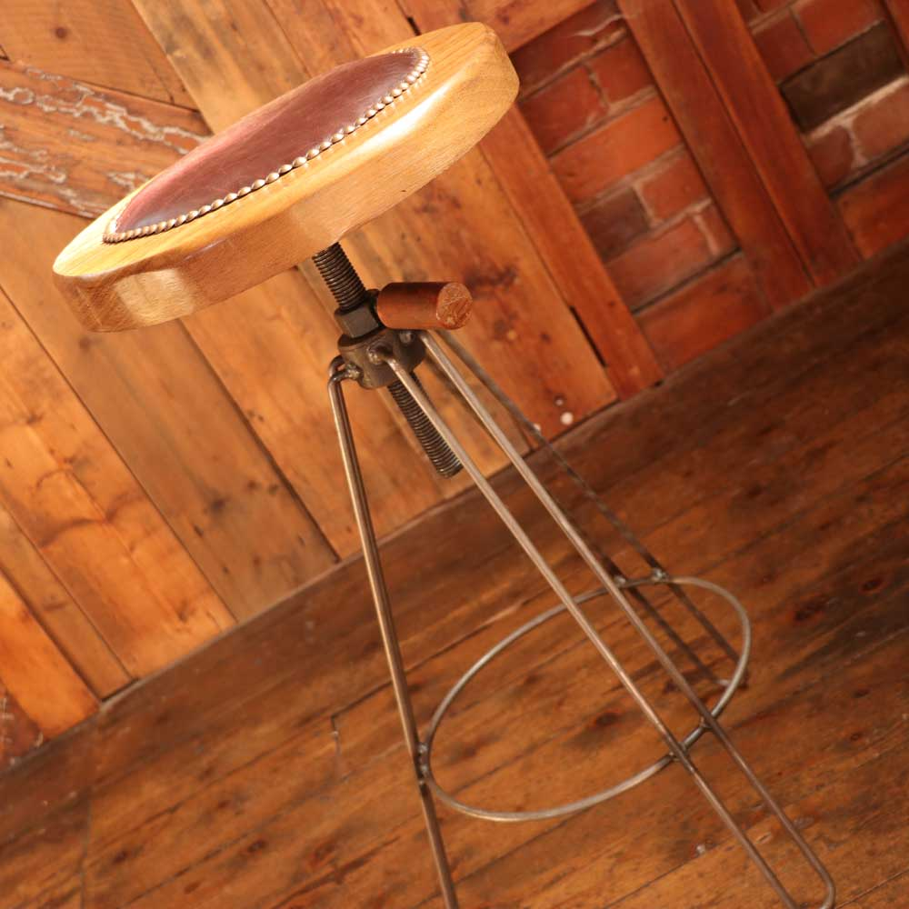 Awesome Handmade Industrial Designed Reclaimed Wood Leather Barstool Gamerscity Chair Design For Home Gamerscityorg