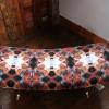 Stofa bench upholstered in velvet fabric designed by Emma of Semper Hopkins Upholstery and Interiors