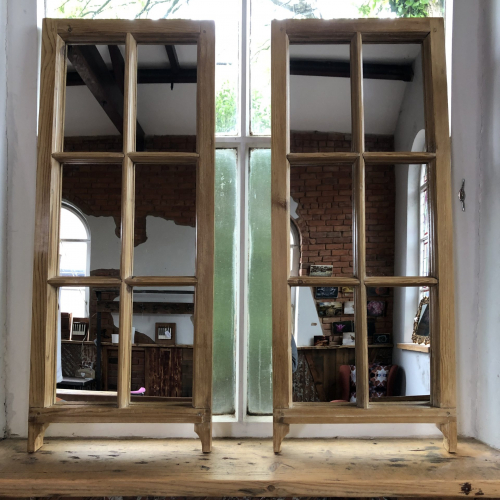 Reclaimed Wood Sash Mirror