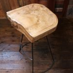 custom made wood bar stool