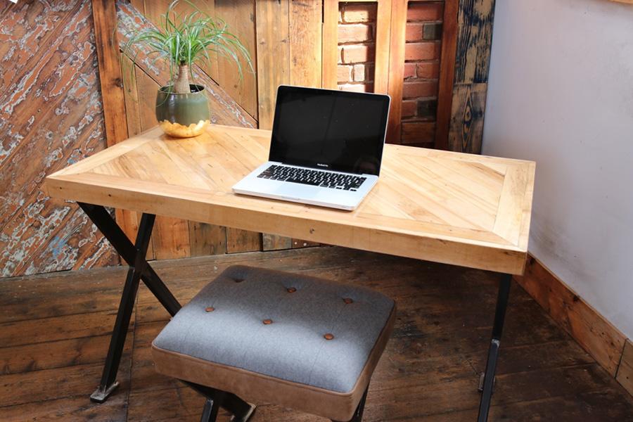 Reclaimed wooden desk