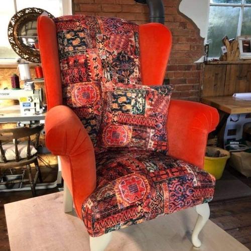 custom upholstered armchair