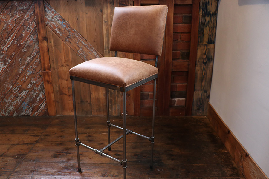 pipework barstools with backrest