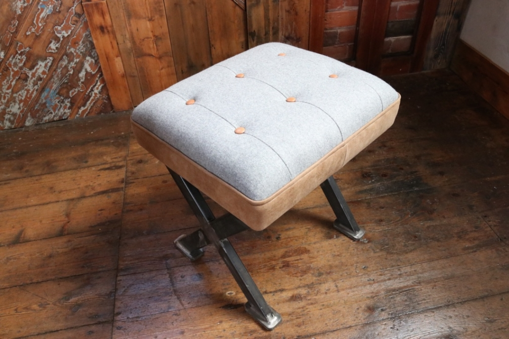 contrast button footstool