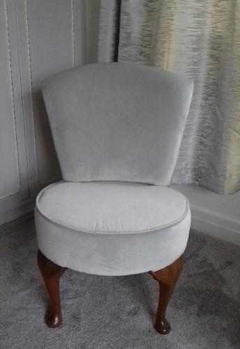 Custom fabric bedroom chairs