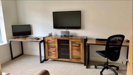 Custom made reclaimed wood office desks