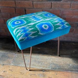 Hairpin leg stool
