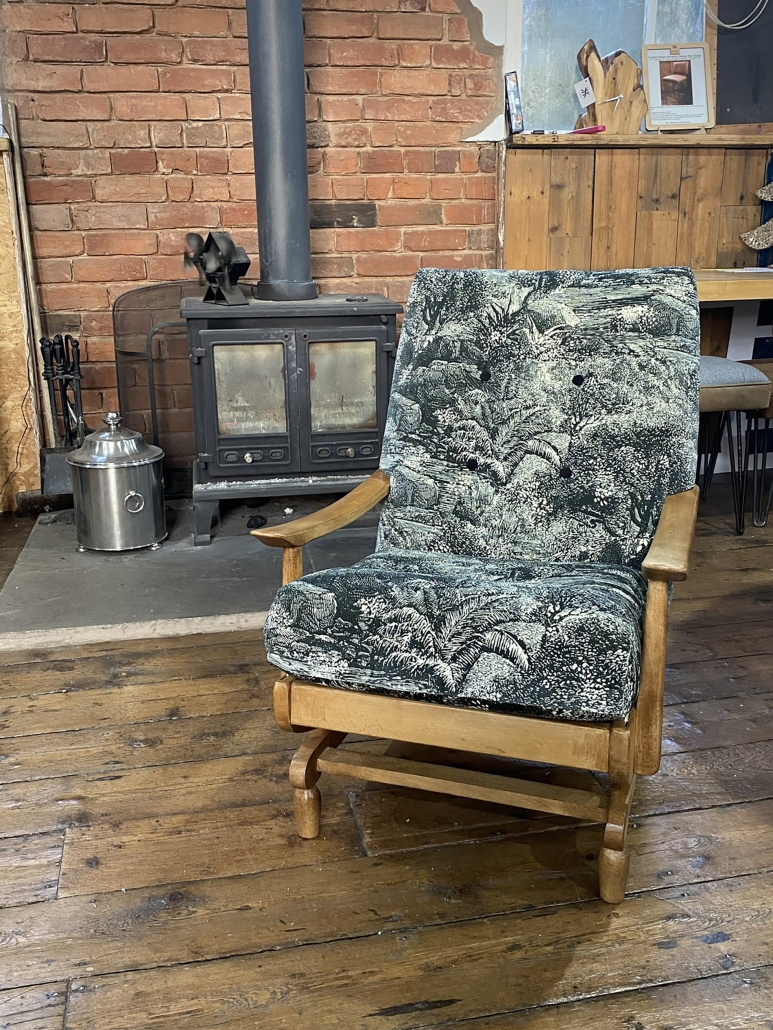 Custom reupholstered rocking chairs