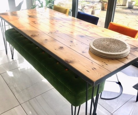 custom made reclaimed wood dining table