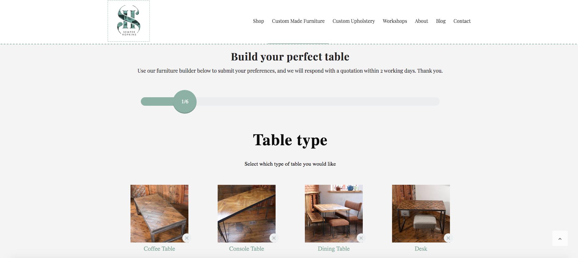 Custom furniture builder