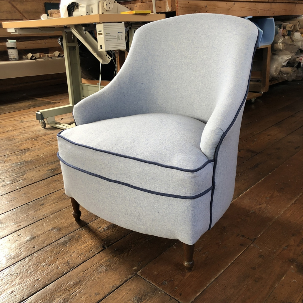 Custom reupholstered chairs